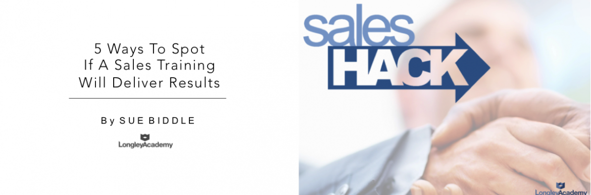 5 Ways To Spot If A Sales Training Course Will Deliver Results